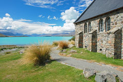 Church by the lake Tekapo Stock Photo