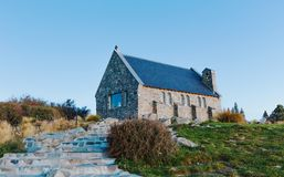 Lake Tekapo Church. South, canterbury. Stock Image