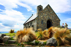 Church in Lake Tekapo, New Zealand Stock Image