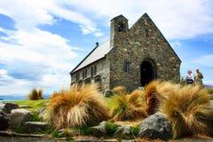 Church in Lake Tekapo, New Zealand Stock Image
