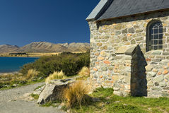 Church at Lake Tekapo, New Zealand Stock Image