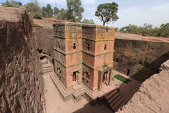 Church in Lalibela, Ethiopia. Orthodox ethiopian church - the saint George - in Ethiopia, Africa stock photography