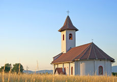 Church on a land. And beautiful blue sky Royalty Free Stock Photos