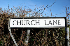 Church Lane road sign Royalty Free Stock Photo