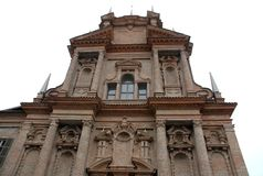 Church in the Langhe in the province of Turin in Piedmont (Italy) Stock Image