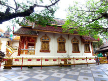 A church. Lanna - styled church is a place of worship in Buddhism Royalty Free Stock Image