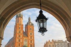 Church and lantern, Krakow. Church and lantern in Krakow, Poland Royalty Free Stock Photos