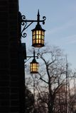 Church lanterns. Two old style church lanterns on a wall Stock Images