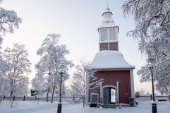 Church in Lapland Royalty Free Stock Images