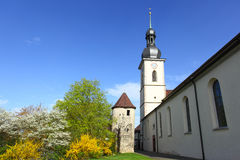 Church in Lauda Stock Image