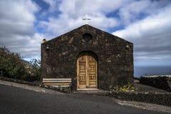 Church from lava stones in el golfo. El hierro, spain royalty free stock image