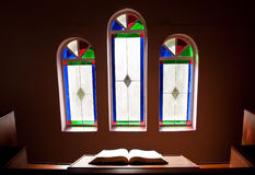 Church with lead glass windows Royalty Free Stock Photos