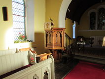 Church Lectern. In a Small Church Royalty Free Stock Images