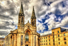 A church in Leith district of Edinburgh Royalty Free Stock Images