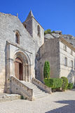 Church in Les Baux de Provence village. France Stock Photography