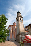 Church of Levico Terme - Trentino Italy. Church of the Most Holy Redeemer (del Santissimo Redentore) of Levico Terme (1872). Trentino Alto Adige, Italy, Europe royalty free stock photo