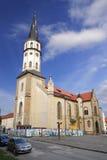 Church in Levoca town. Levocha, Slovakia - april 12, 2015: church of St. Jacob's of sunday april 12, 2015 in Levocha, Slovakia Royalty Free Stock Photo