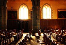 Church Light. Sunlight entering through two church windows Royalty Free Stock Image