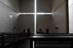 Church with Light, osaka, japan. Church of the light is the Ibaraki Kasugaoka Church's main chapel. It was built in 1989, in the city of Ibaraki, Osaka Stock Photography