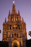 church lights mexico night parroquia Στοκ Εικόνα