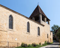 The Church in Limeuil Stock Photography