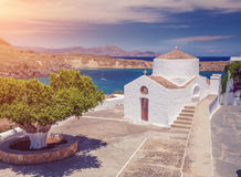 Church in Lindos Stock Image