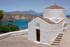 Church in Lindos, Greece Stock Images