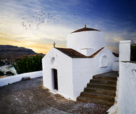 Church in Lindos, Rhodes Royalty Free Stock Image