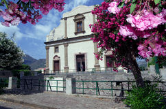 Church in Lipari, Aeolian Islands, Sicily, Italy Royalty Free Stock Images
