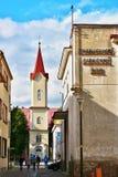 Church in Liptovsky Mikulas. Evangelic church in center in Liptovsky Mikulas Stock Photo