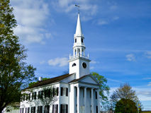 Church of Litchfield. The historic first congregational church of Litchfield Royalty Free Stock Images