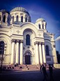 Church in Lithuania. Church in Kaunas street, Lithuania Royalty Free Stock Images
