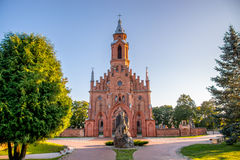 Church In Lithuania. Church in Kernave city, Lithuania royalty free stock image