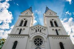 Church in lithuania. Near Molėtai, Alanta city stock photo