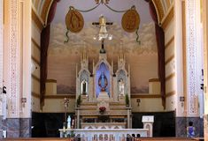 Church at little city in Brazil, Monte Siao-MG royalty free stock photos
