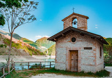 Church. Little church by a lake Royalty Free Stock Image