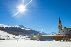 Church in Livigno Royalty Free Stock Photo