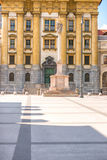 Church in Ljubljana city. Ursuline church of the Holy Trinity in Ljubljana city in Slovenia Stock Images