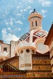 Church in Lloret de Mar. Detail of a church in Lloret de mar royalty free stock photos