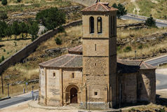 Church located in the city of Segovia, Castile and Leon (Spain) Stock Photo