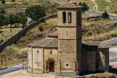 Church located in the city of Segovia, Castile and Leon (Spain).  Stock Photo