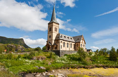 Church on lofoten islands, Norway. Stock Photo