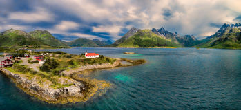 Church on Lofoten islands Royalty Free Stock Photography
