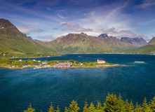 Church on the Lofoten. In Norway Royalty Free Stock Photo