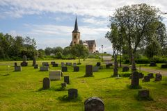Church in Lofoten in Norway royalty free stock images