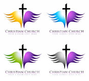 Church Logo. Illustration drawing representing a church logo in multiple color options Stock Image