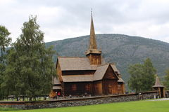 Church in Lom, Norway. Stock Photo