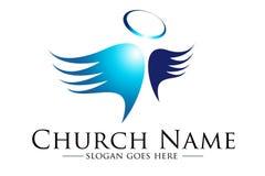Church Loogo. Illustration drawing representing a church logo Royalty Free Stock Photo