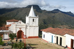 Church in Los Nevados village Royalty Free Stock Image