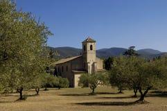 Church of Lourmarin, Provence,. France Stock Photos